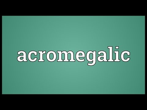 Header of acromegalic