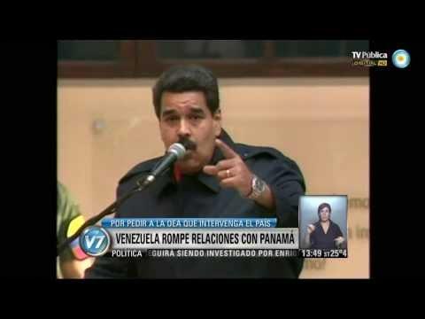 Visión 7: Maduro anunció que Venezuela rompió relaciones con Panamá