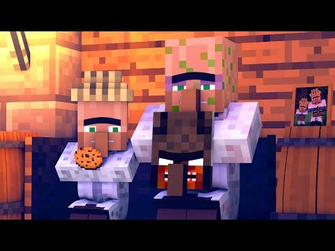 Granny vs Villager Life 5 - Alien Being Minecraft Animation & Monster School