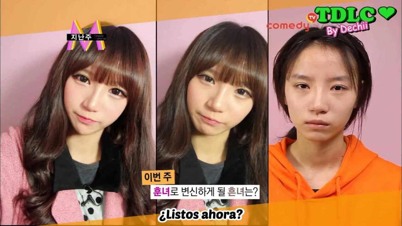 Ulzzang Makeup Before And After Espanol  Ulzzang