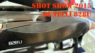 Benelli 828U (shooting clays & close-up view) SHOT Show 2015