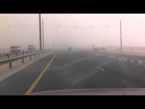 Desert Sandstorm on Arabian Peninsula - Qatar