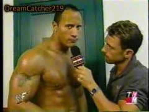 The Rock funny interview about Stephanie