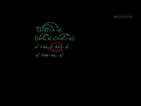 Cuadrado de un binomio y diferencia de cuadrados - Álgebra - Educatina