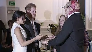 Prince Harry, Meghan Markle meet orcs in Wellington, New Zealand | Newshub
