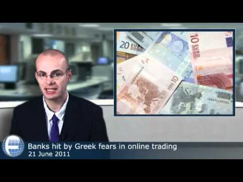 Banks hit by Greek fears in online trading