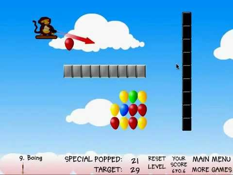 Balloon Pop Monkey Game Monkey Balloons Game Gameplay