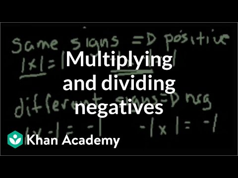 Multiplying and dividing negative numbers   Pre-Algebra   Khan Academy