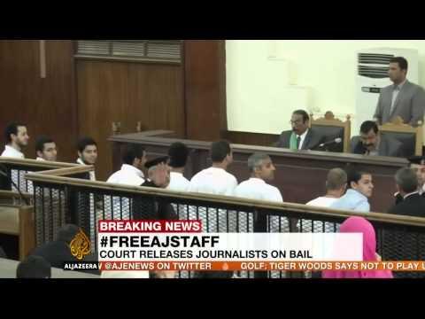 Egypt court releases Al Jazeera journalists on bail