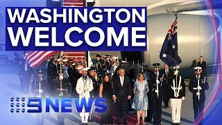PM arrives in U.S. ahead state dinner with Donald Trump | Nine News Australia