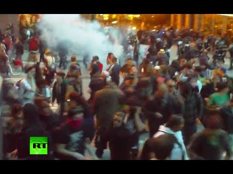 Violent May Day: Police fire flash bangs, pepper spray at protesters in Seattle