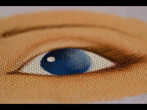 Pintura em tecido Eliane Nascimento: Olhinho da boneca.