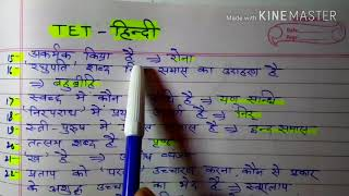 UPTET 2017 hindi language important question and answer