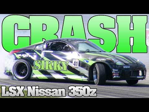 LSX v8 350z drift racing crash 2013