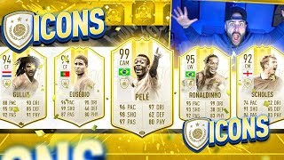 WOW MOST ICONS IN A DRAFT EVER CHALLENGE!! FIFA 19 Ultimate Team Draft