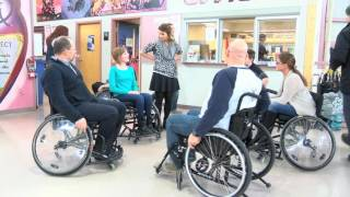 Students at North Peace Secondary School unite to show support for wheelchair bound student