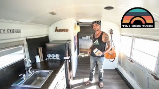 Aussie Sells Everything, Moves To The U.S. & Builds A School Bus Conversion In 1 Week!