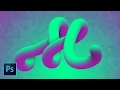Advanced 3D Typography Effects PART 1 Photoshop CC (How to Create Amazing Text with Mixer Brush)