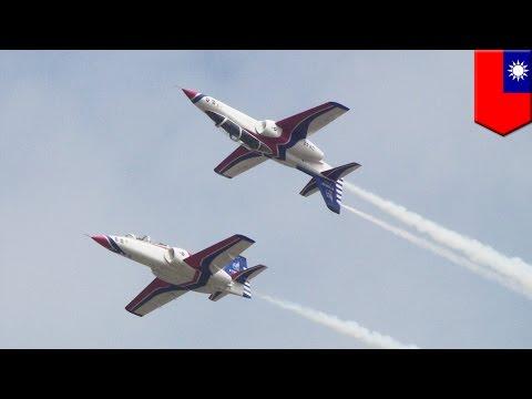 Military plane crash in Taiwan Airforce AT-3 training jet