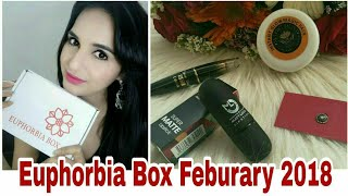 India's most Super Affordable Subscription Box | Euphorbia Box Feburary 2018 | Unboxing &  Review |