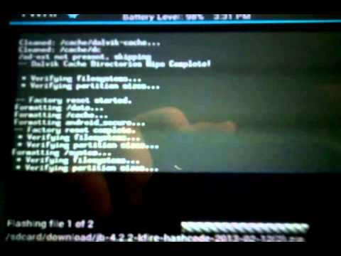 How to install Jelly Bean on a Kindle Fire (1st Gen)