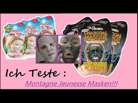 Montagne Jeunesse Tuchmaske Teebaumöl & grüne Minze 7th Heaven Schwarze Schlammmaske mit Aktivkohle