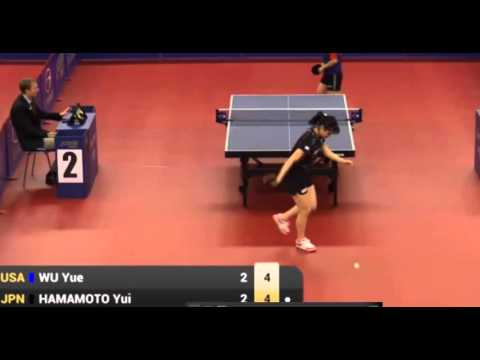Newest USA Table tennis team women Player Wu Yue great Rally