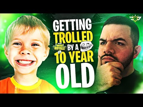 COURAGE GETS TROLLED BY A 10 YEAR OLD! - Random Duos! (Fortnite: Battle Royale)
