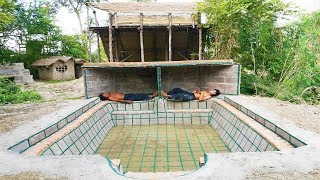 Build Swimming Pool Underground and Build Shower Tank (part 1)