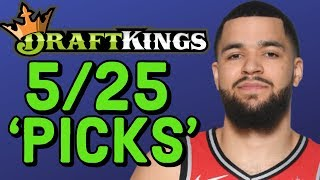 DRAFTKINGS NBA DFS SATURDAY 5/25 PICKS | NBA DFS PLAYOFF PICKS STRATEGY