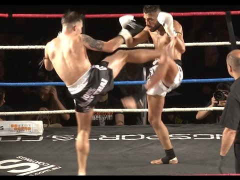 Muay Thai Fight - Wills Vs Habib, Rebellion Muay Thai, Melbourne- 28th November 2015