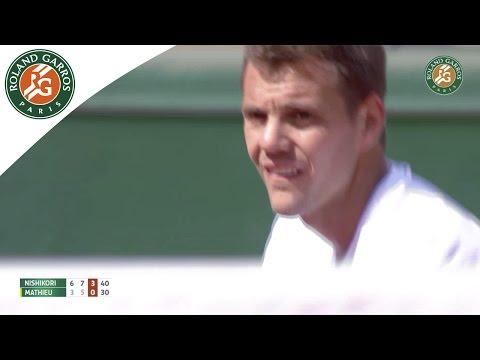 【錦織圭】2015全仏オープン 1回戦 VS P・H・マチュー 6-3、7-5、6-1ストレート勝利のキャプチャー