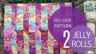 Hillside Quilt Pattern Video Tutorial - Uses 2 Jelly Rolls!