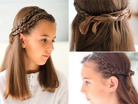 Peinado con trenzas para ni as youtube - Peinados de semirecogido ...