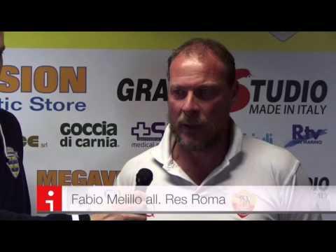Fabio Melillo post Tavagnacco vs Res Roma 0-1