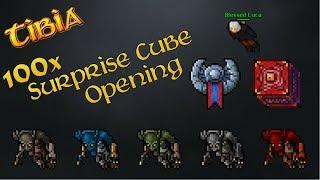 Tibia - 100x Surprise Cube OPENING | NAJDROŻSZY opening w Tibii