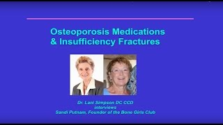Medications & Fractures with Sandi Putnam: Be Your Own Health Expert Series