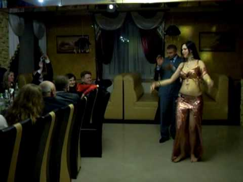 Sapphira belly dances to tabla with birthday boy