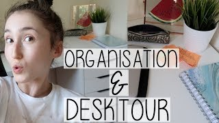 GET ORGANISED WITH ME VLOG & DESK TOUR | ANOTHER PRODUCTIVE DAY IN THE LIFE