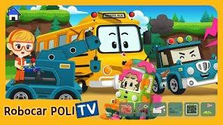 POLI Game   How do we fix the car friends ?   for Kids   Robocar POLI
