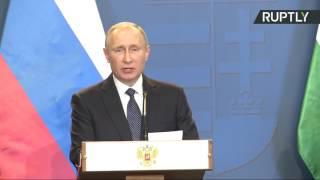 Пресс-конференция Владимира Путина и премьер-министра Венгрии