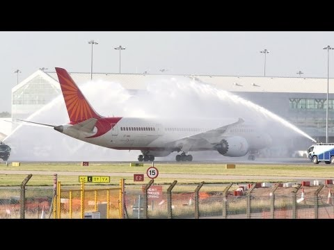 Air India 787 Dreamliner - inaugural Birmingham flight