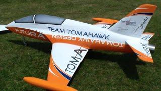 Knife edge, Invert fast Low-pass RC Jet Futura Team Tomahawk Turbine Model