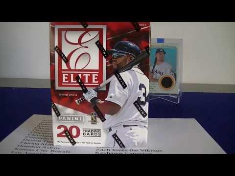 2015 Elite Baseball Blaster Box Break / November Group Break Giveaway