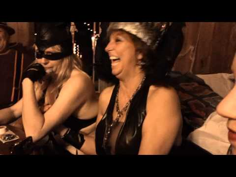 Half Naked Women Play Poker On Halloween video