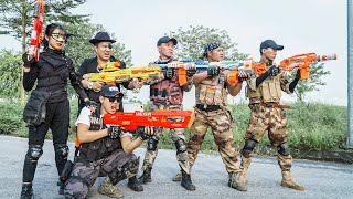 LTT Nerf War : SEAL X Warriors Nerf Guns Fight Criminal Group Dr Mundo Rescue Squad In Distress