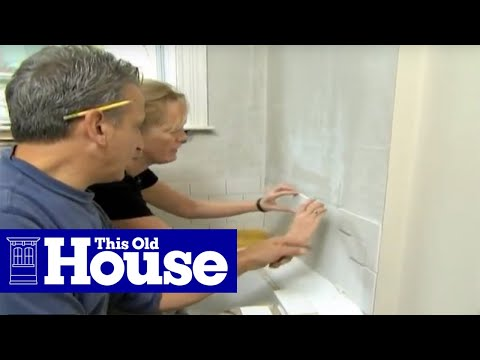 How to lay subway tile