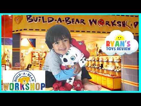 Ryan ToysReview's First Build A Bear Workshop Family Fun Paw Patrol Toys Chase and Marshall