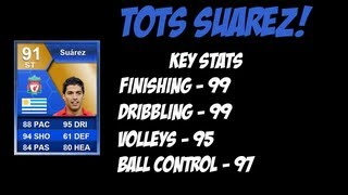 FIFA 13 - TEAM OF THE SEASON SUAREZ REVIEW! Ultimate Team
