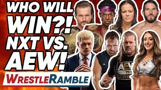 Who Will Win The WWE NXT Vs. AEW All Elite Wrestling Battle?! | WrestleRamble